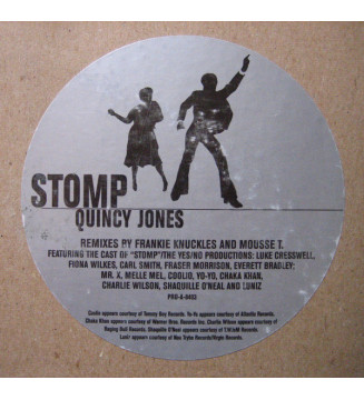 "Quincy Jones - Stomp (2x12"", Promo) mesvinyles.fr"