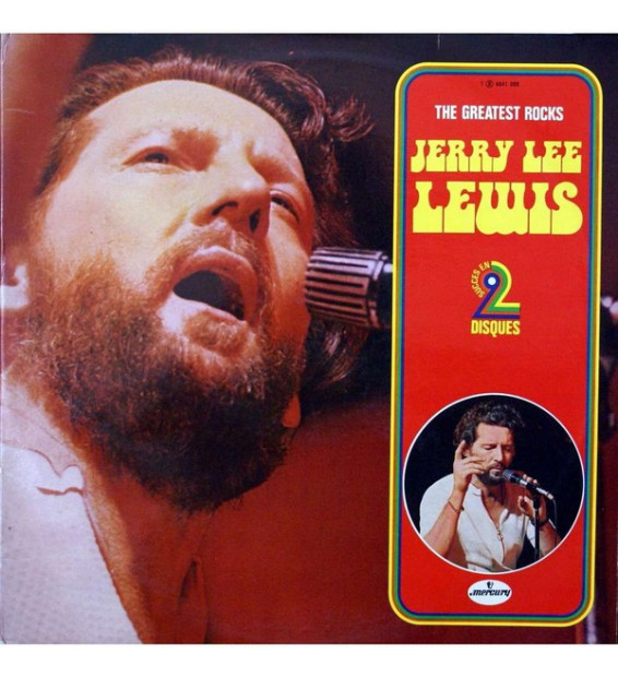 Jerry Lee Lewis - The Greatest Rocks (2xLP, Comp) mesvinyles.fr