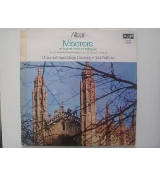 Allegri* / Tallis* / Gibbons* / Haendel* / Byrd* / Bach* / Vivaldi* - Chœur Du King's College, Cambridge*, David Willcocks - Mi