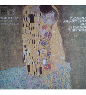 Pierre Boulez, New York Philharmonic* - Schoenberg* / Berg* - Verklaerte Nacht / Lyrische Suite - Suite Lyrique (LP, RE) mesviny