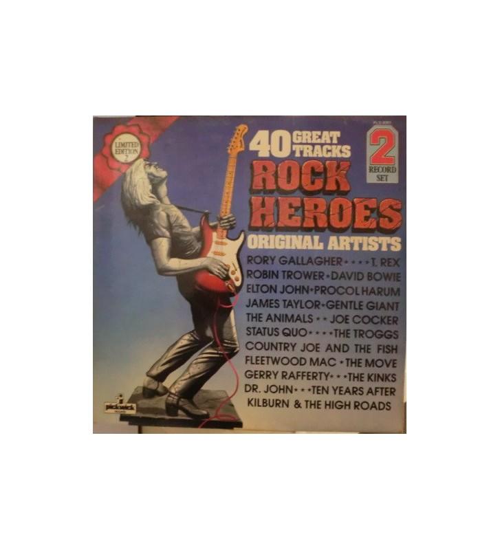 Various - Rock Heroes (2xLP, Comp, Ltd) mesvinyles.fr
