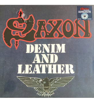 Saxon - Denim And Leather (LP, Album, Ltd, RE, RM, Blu) mesvinyles.fr