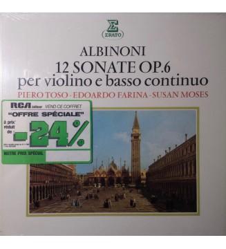 Albinoni* - Piero Toso - Edoardo Farina - Susan Moses - 12 Sonate Op.6 Per Violino E Basso Continuo (2xLP + Box) mesvinyles.fr