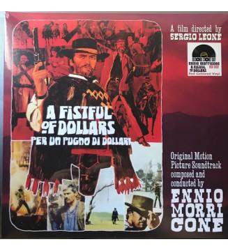 """Ennio Morricone - A Fistful Of Dollars - Per Un Pugno Di Dollari (10"""", Red) Disquaire Day (RSD) mesvinyles.fr"""