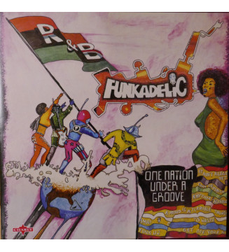"Funkadelic - One Nation Under A Groove (LP + 7"" + Album, RE, Gat) mesvinyles.fr"