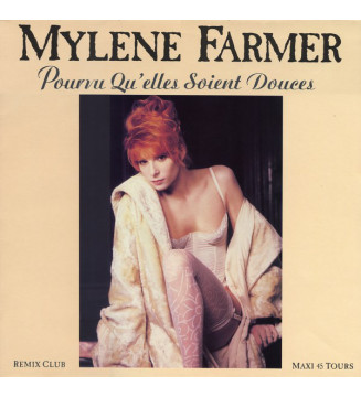 """Mylène Farmer - Pourvu Qu'elles Soient Douces (12"""", Maxi) mesvinyles.fr"""