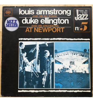 Louis Armstrong And His Allstars*, Duke Ellington And His Orchestra - At Newport (LP, Comp, Mono) mesvinyles.fr