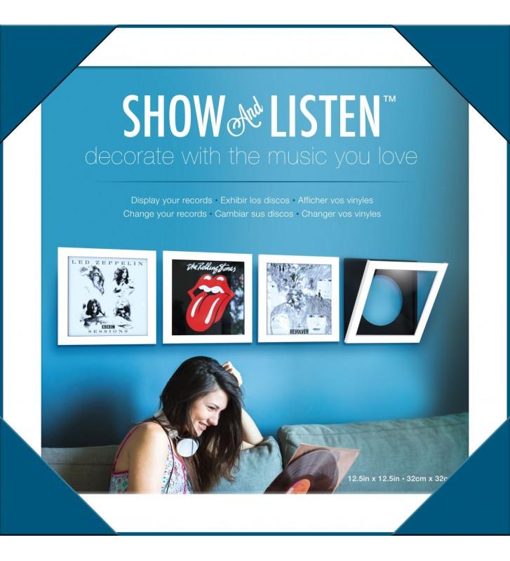 Cadre Blanc Pour Disque Vinyle A Ouverture basculante Show & Listen - mesvinyles.fr