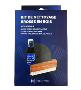 Kit de nettoyage brosse en bois - mesvinyles mesvinyles.fr