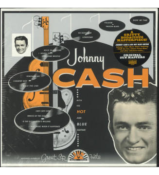 Johnny Cash - With His Hot And Blue Guitar (LP, Album, Mono, RE, RM) mesvinyles.fr