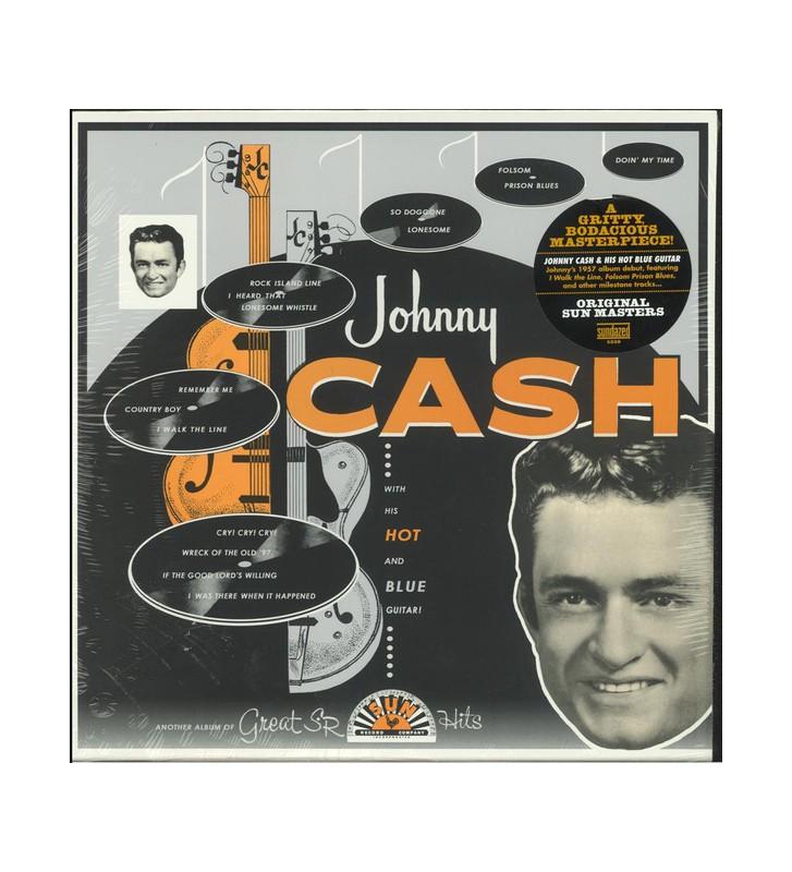 Johnny Cash - With His Hot And Blue Guitar (LP, Album, Mono, RE, RM) mesvinyles.fr