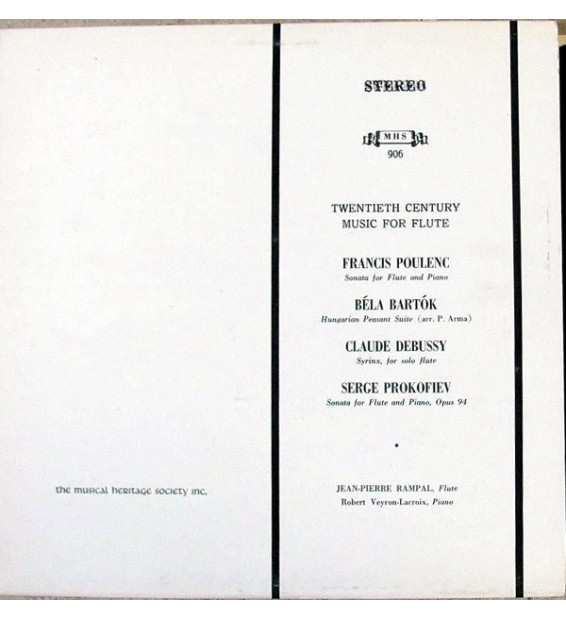 Jean-Pierre Rampal / Robert Veyron-Lacroix - Twentieth Century Music For Flute (LP) mesvinyles.fr