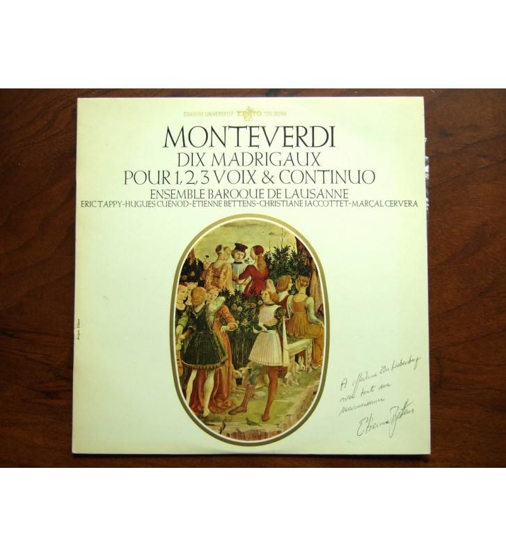Claudio Monteverdi - Ensemble Vocal Et Instrumental De Lausanne - Dix Madrigaux mesvinyles.fr