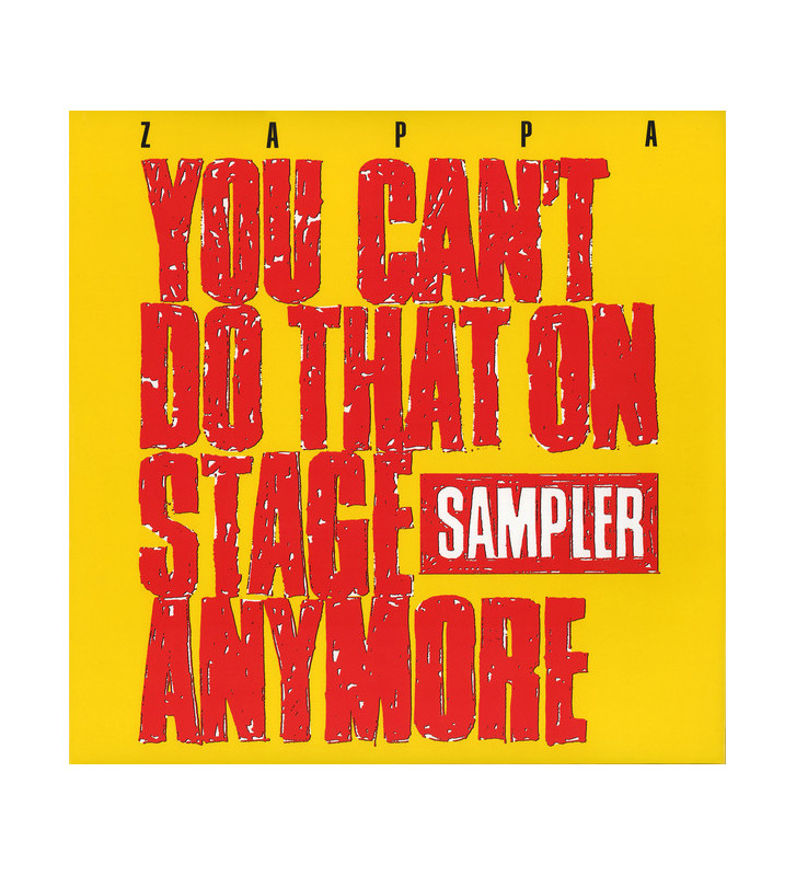 Zappa* - You Can't Do That On Stage Anymore (Sampler) (2xLP, Comp, Smplr, Yel) Disquaire Day (RSD) mesvinyles.fr