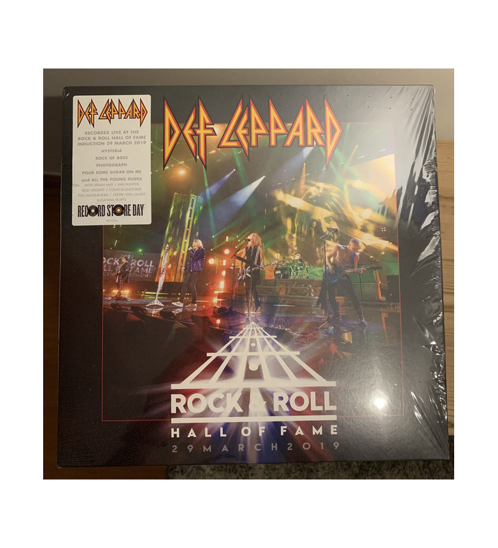 """Def Leppard - Rock & Roll Hall Of Fame 29 March 2019 (12"""", EP) BLACK FRIDAY 2019 mesvinyles.fr"""