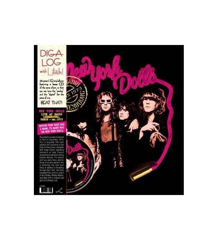 New York Dolls - Live At Radio Luxembourg, Paris - Dec. 1973 (LP, Album, RE + CD, Album, RE) mesvinyles.fr