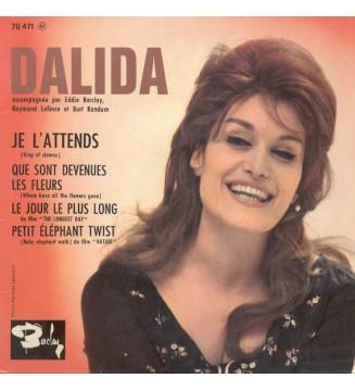 "Dalida Accompagnée Par Eddie Barclay, Raymond Lefèvre Et Burt Random - Je L'attends (7"", EP) mesvinyles.fr"