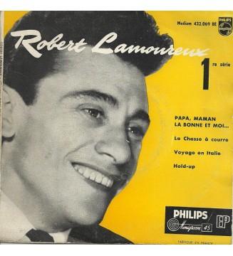 """Robert Lamoureux - Papa, Maman, La Bonne Et Moi... (7"""", EP) mesvinyles.fr"""