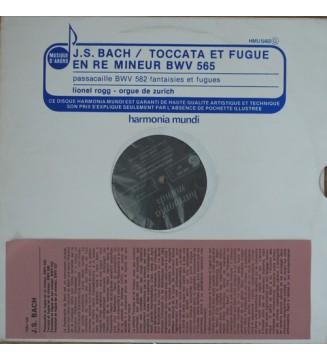 J.S. Bach*, Lionel Rogg - Toccata Et Fugue En Ré Mineur BWV 565 (LP) mesvinyles.fr