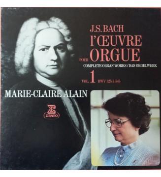 J.S. Bach*, Marie-Claire Alain - L'Œuvre Pour Orgue Vol.1 (Complete Organ Works / Das Orgelwerk) (4xLP + Box) mesvinyles.fr