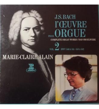 J.S. Bach*, Marie-Claire Alain - L'Œuvre Pour Orgue Vol. 2 (Complete Organ Works / Das Orgelwerk) (4xLP, Box) mesvinyles.fr