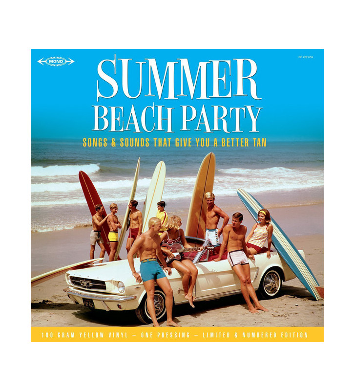 Various - Summer Beach Party : Songs And Sounds That Give You A Better Tan (LP, Comp, Mono, Ltd, Num, Yel) mesvinyles.fr