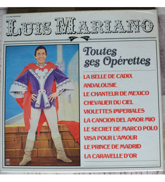 Luis Mariano - Toutes Ses Opérettes (5xLP, Comp, Mono, S/Edition) mesvinyles.fr