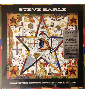 Steve Earle - I'll Never Get Out Of This World Alive (LP, Album, Ltd, 180) mesvinyles.fr