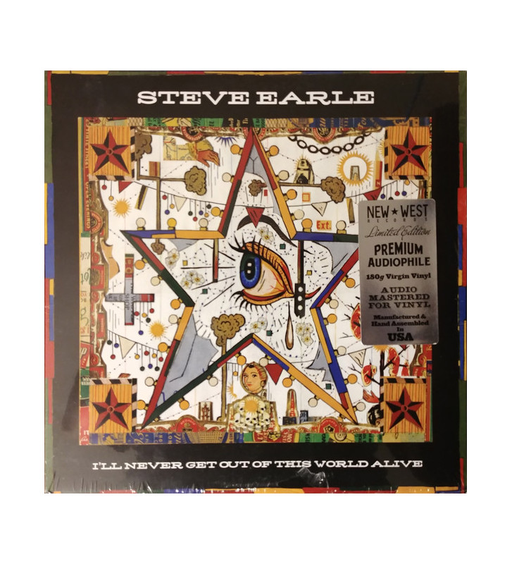 Steve Earle - I'll Never Get Out Of This World Alive (LP, Album, Ltd, 180) mesvinyles.fr