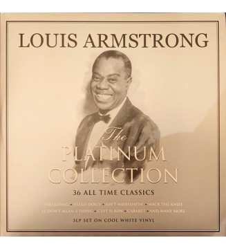 Louis Armstrong - The Platinum Collection (3xLP, Comp, Whi) mesvinyles.fr