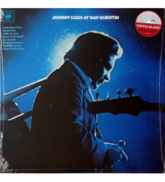 Johnny Cash - Johnny Cash At San Quentin (LP, Album, RE, Whi) mesvinyles.fr