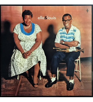 "Ella Fitzgerald & Louis Armstrong - Ella & Louis (LP, Album, RE + 7"", Single, Blu) mesvinyles.fr"