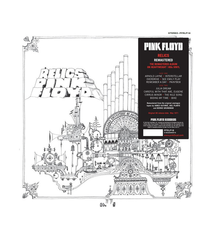 Pink Floyd - Relics (LP, Comp, Mono, RE, RM, 180) mesvinyles.fr