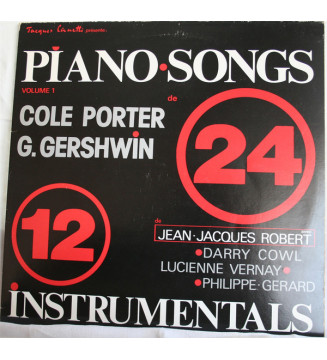 """Cole Porter, George Gershwin - Piano Songs - 24 Titres - 12 Instrumentals (2x12"""") mesvinyles.fr"""