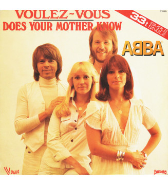 """ABBA - Voulez-Vous / Does Your Mother Know (12"""", Single, Red) mesvinyles.fr"""