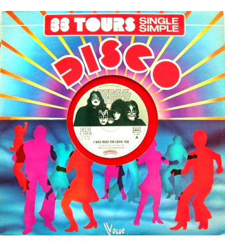 """Kiss - I Was Made For Lovin' You  (12"""", Red) mesvinyles.fr"""