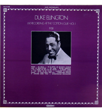 "Duke Ellington - Live Recording At The ""Cotton Club"" Vol.1 (LP) mesvinyles.fr"