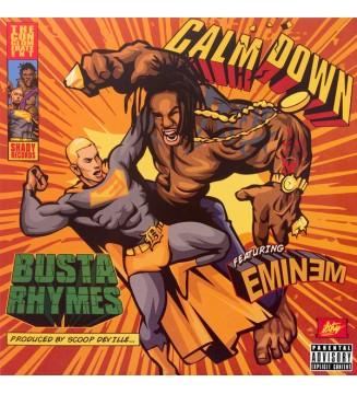 "Busta Rhymes Featuring Eminem - Calm Down (12"", Ltd, Gre) mesvinyles.fr"