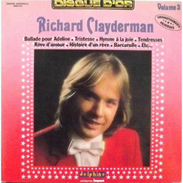 RICHARD CLAYDERMAN - Volume Three - 33T